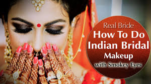 indian bridal makeup with smokey eyes tutorial asian bridal make up krushhh by konica
