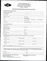 Credit Application Template Examples In Word Free Company