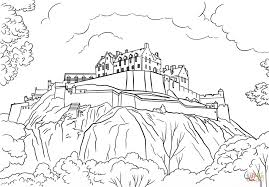 Edinburgh Castle coloring page | Free Printable Coloring Pages