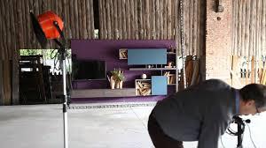 Soggiorno moderno side system con porta tv orientabile flag