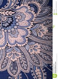 Uitstekend Blauw Behang Met Het Patroon Van Paisley Stock Afbeelding