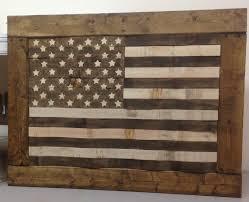 diy wood american flag wall art