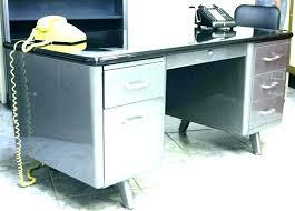 Vintage metal furniture Lawn Vintage Vintage Steel Desk Old Metal Desk Vintage Metal Desks Old Metal