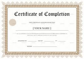 degree certificate templates bachelor degree completion certificate design template in psd word