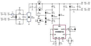 hv9861adb2 reference design general led driver arrow com image