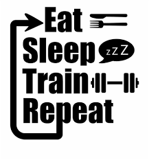 Eat Sleep Train Repeat Decal Eat Sleep Train Repeat Quotes