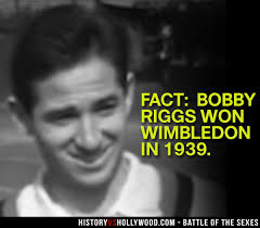 「Riggs died of prostate cancer in 1995.」の画像検索結果