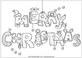 Small Picture Merry Christmas Colouring Page