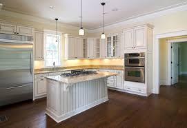 Kitchen With Dark Floors Kitchen Wonderful White Kitchen Dark Wood Floors With Beige