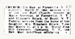 Ida Mason Schanbacher Church (1872-1953) - Find A Grave Memorial