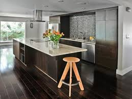 interior dark wood floor kitchen awesome cabinets throughout decorations 9