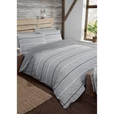 338369 338370 338371 melange stripe grey duvet set