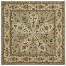 8 square sage green area rug tara