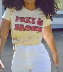 adorned by chi foxy and brown cream short sleeve uni