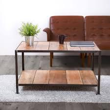 Industrial Looking Coffee Tables Reclaimed Wooden Coffee Table Industrial Style