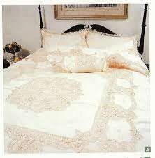 elite battenburg lace duvet cover in ecru and or white colours duvet cover set is doubled lined and made in premium quality cotton complete with matching