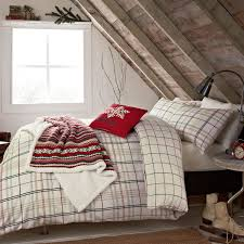 red green check bedding