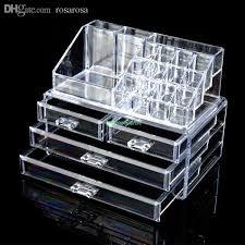 whole 4 drawers cosmetic organizer clear acrylic jewellery box makeup storage case eqc380 acrylic makeup organizer