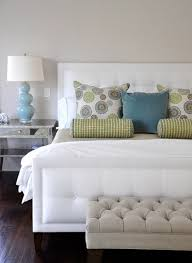 blue and green bedroom. Beautiful Crisp White, Blue And Green Bedroom Contemporary-bedroom O