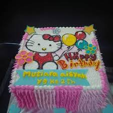 Jual Kue Ultah Gambar Hello Kitty Harga Murah Jakarta Oleh Khena Cake