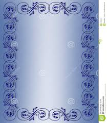 Scroll Border Designs Blue Scroll Border Design Stock Illustration Illustration