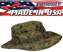 Details About Usmc Marine Marpat Woodland Digital Camouflage Boonie Hat Us Made 573 317