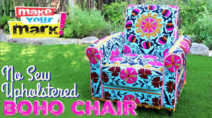 how to no sew upholstered boho chair