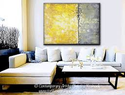 giclee print art yellow grey abstract painting modern large canvas prints contemporary beach coastal wall art home decor urban xl large sizes to 60  on large grey canvas wall art with giclee print art yellow grey abstract painting canvas prints