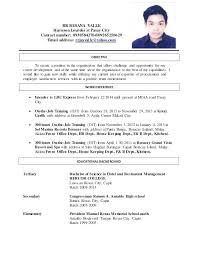 On Job Training Objectives Sample Resume Objectives For Ojt Hrm