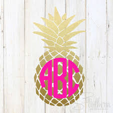 Pineapple Pattern Magnificent Pineapple Pattern Monogram Sew Southern Designs