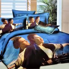 I Welhouse India Double Bed Sheet Wonderful Titanic 4D Print