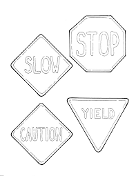 Small Picture Traffic Signs And S New Safety Signs Coloring Pages Coloring