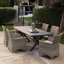 outdoor dining tables add 2 more chairs belham living bella all weather wicker patio teak outdoor round dining table