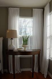 window blinds and curtains. Beautiful Curtains White Venetian Blinds Complimented With White Silky Drapes Maybe A Little  Too Feminine Feeling For The Men In My House But I Love It To Window Blinds And Curtains D