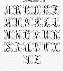 letter handwriting monogram calligraphy font creative font collection