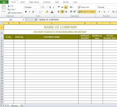Schedule Document Template Delivery Schedule Template Excel Delivery Schedule