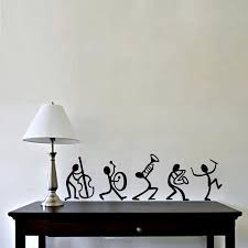 enjoyable black vinyl wall decal feat espresso wooden table added white shade table lamps in entryway decorating ideas
