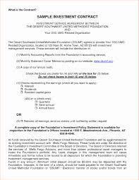 Business Investment Agreements Investment Advisory Agreement Template Elegant Business Investment 15