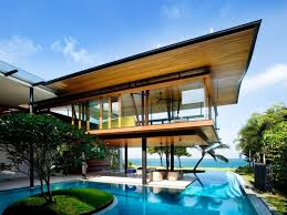 Simple Design Architecture Principles With Attractive Tropical Modern House  And