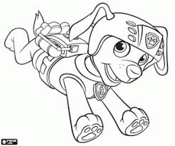The Labrador Dog Zuma Of Paw Patrol Coloring Page Printable Game