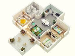 Modern 3 Bedroom House Design 25 More 3 Bedroom 3d Floor Plans