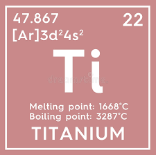 Titanium. Transition Metals. Chemical Element Of Mendeleev ...