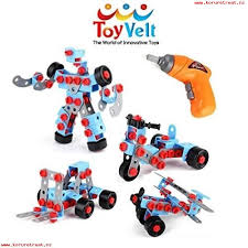toyvelt stem learning take apart educational construction engineering w electric toy drill building blocks set for 3 4 and 5 year old boys s