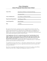 funding proposal cover letters template funding proposal cover letters