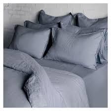 linen duvet cover king size terranean blue