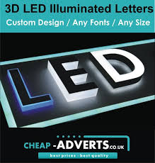 3d letter led illuminated 70cm custom designs shapes free artwork ebay