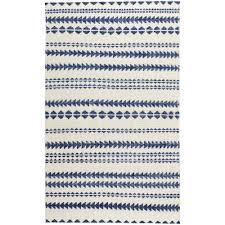 capel genevieve gorder scandinavian stripe natural blue 8 ft x 10 ft area rug