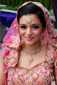 pretty in pink flawless indian bride makeup by