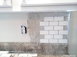 Tile Backsplash Installation Fascinating How To Install A Kitchen Backsplash The Best And Easiest Tutorial