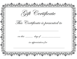 Make Your Own Gift Certificate Templates Free Editable Gift Certificate Template Best Free Printable Gift